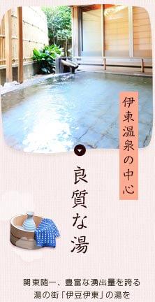 伊東温泉の中心 良質な湯 関東随一、豊富な湧出量を誇る湯の街「伊豆伊東」の湯を